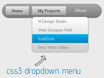 Css3 Dropdown menu for Blogger