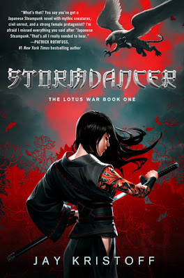 Cover image of Stormdancer by Jay Kristoff, a young adult fantasy novel published by Thomas Dunne Books in 2012.