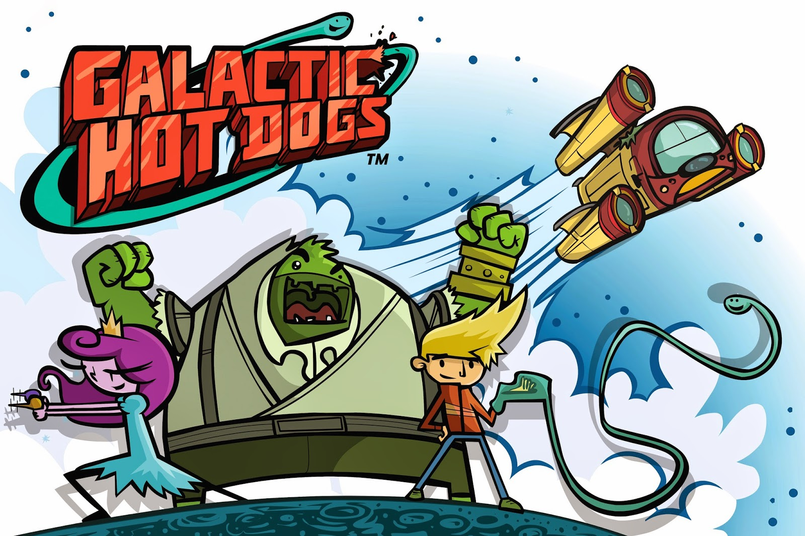 Free Galactic Hot Dogs poster for computer wallpaper