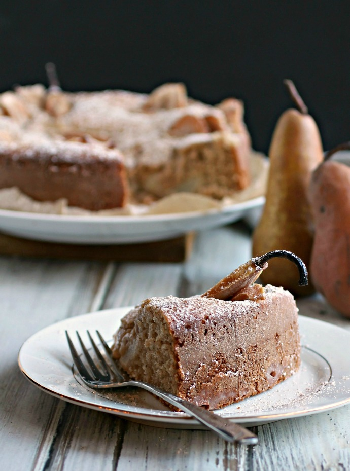 Spiced Honey Pear Cake