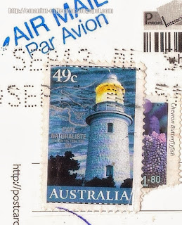 Stamps; Cape Naturaliste Lighthouse - 2002 and 2010 - Chevron Butterflyfish