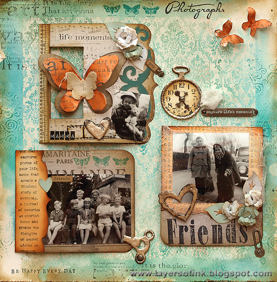 Friends Pop-Up Layout - Layers of ink