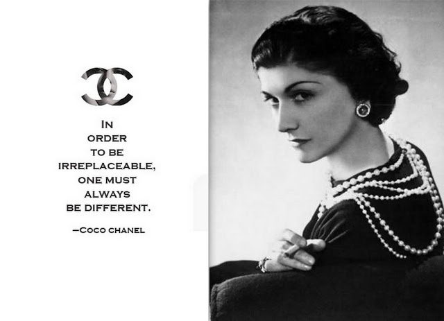 coco chanel quote, coco chanel portrait