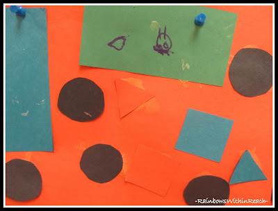 photo of: Geometric Shapes in Preschool Art at RainbowsWithinReach