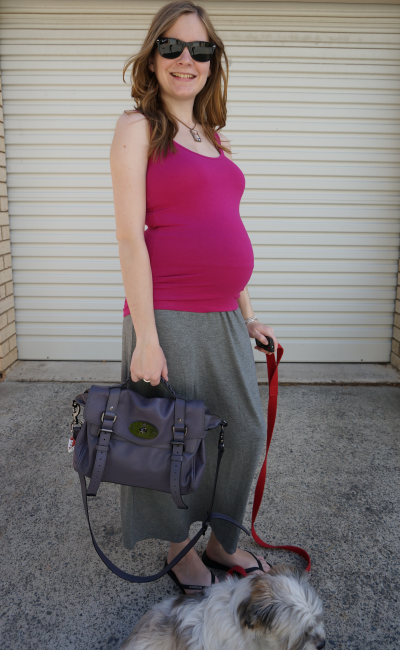 away from blue third trimester easy outfit for pregnancy grey maxi skirt fitted tank top