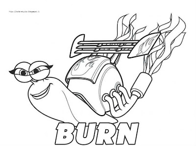Burn disegno colorare