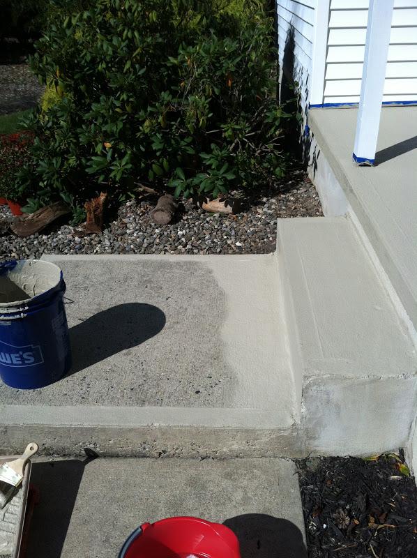 Pine Tree Home Resurfacing Concrete Porch Makeover