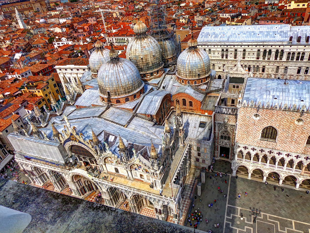 Basilica Cattedrale Patriarcale di San Marco (St. Mark's Basilica) As Seen from The Campanile