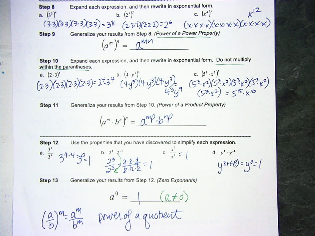 Math 7 accelerated with mrs vandyke october 2015 complete exponent investigation falaconquin