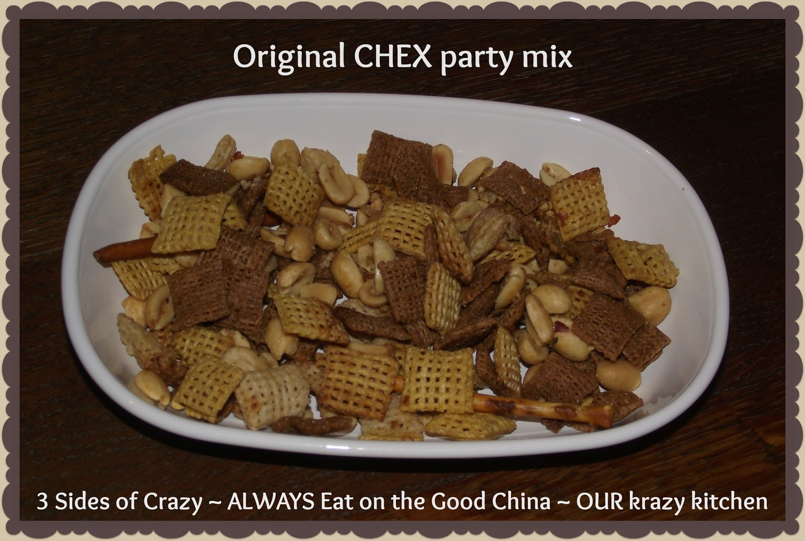 chex party mix 3 cups corn chex cereal 3 cups wheat chex cereal 3 cups ...