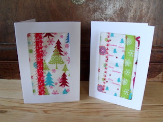 Easy Homemade Gift Idea #3: Fabric cards