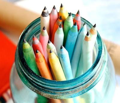 Lápices de Colores Papel Reciclado