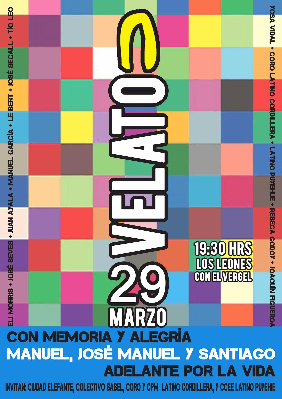 """Velatón Cultural """"Con Memoria y Alegría, Adelante por la Vida"""". (Más Info Haz Clik en la Imagen)"""