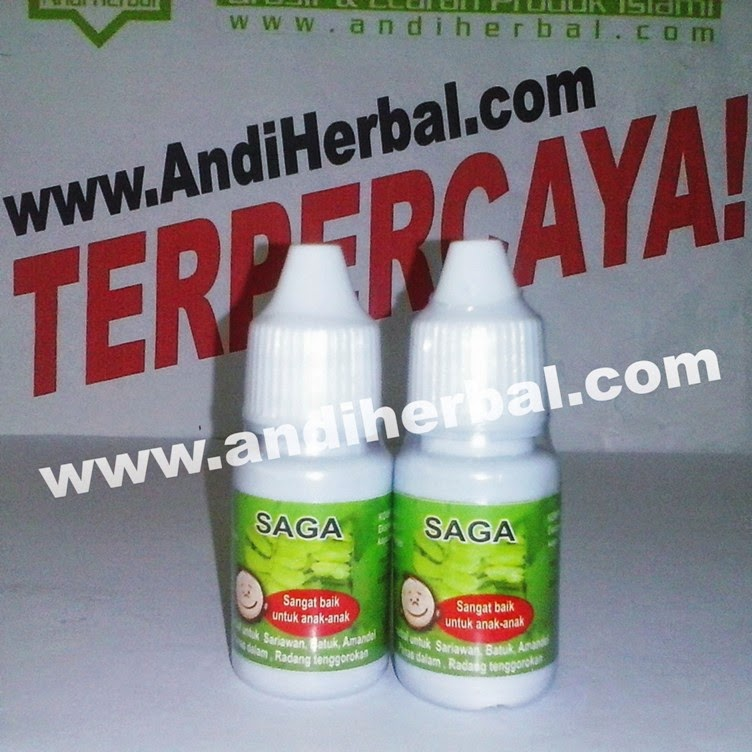 Herbal Tetes Daun Saga untuk Sariawan Anak Andiherbal.com
