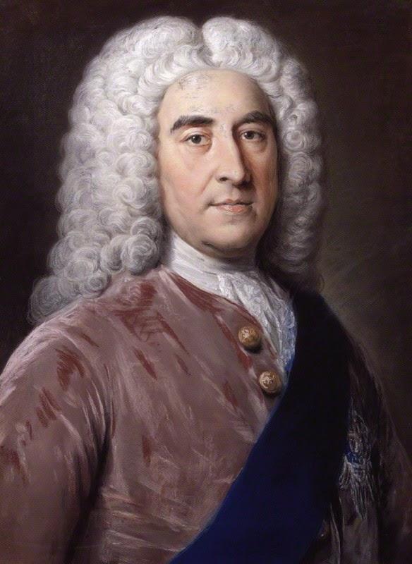 Thomas Pelham-Holles,  1st Duke of Newcastle-under-Lyne  by William Hoare (c1752) © NPG 757 (1)