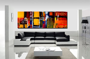 "Abstract Painting ""Positive Thinking"" by Dora Woodrum"