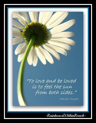 "photo of: ""To Love and be Loved is to Feel the Sun from both sides."" quotation"