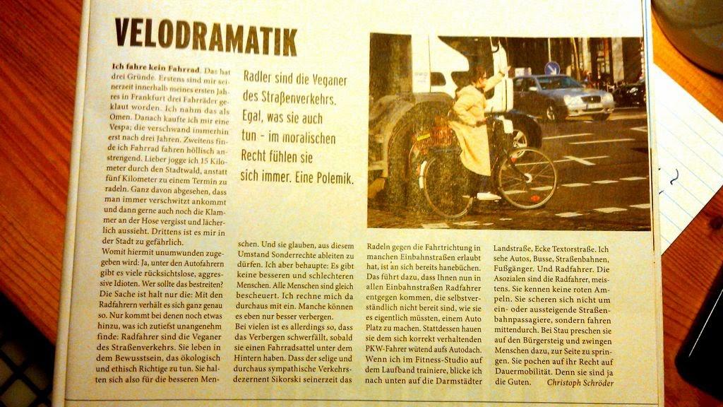 journal ffm 09-2014 Seite 61 - Radfahrerpolemik by Christoph Schröder