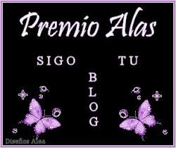 """PREMIO ALAS """"SIGO TU BLOG"""""""