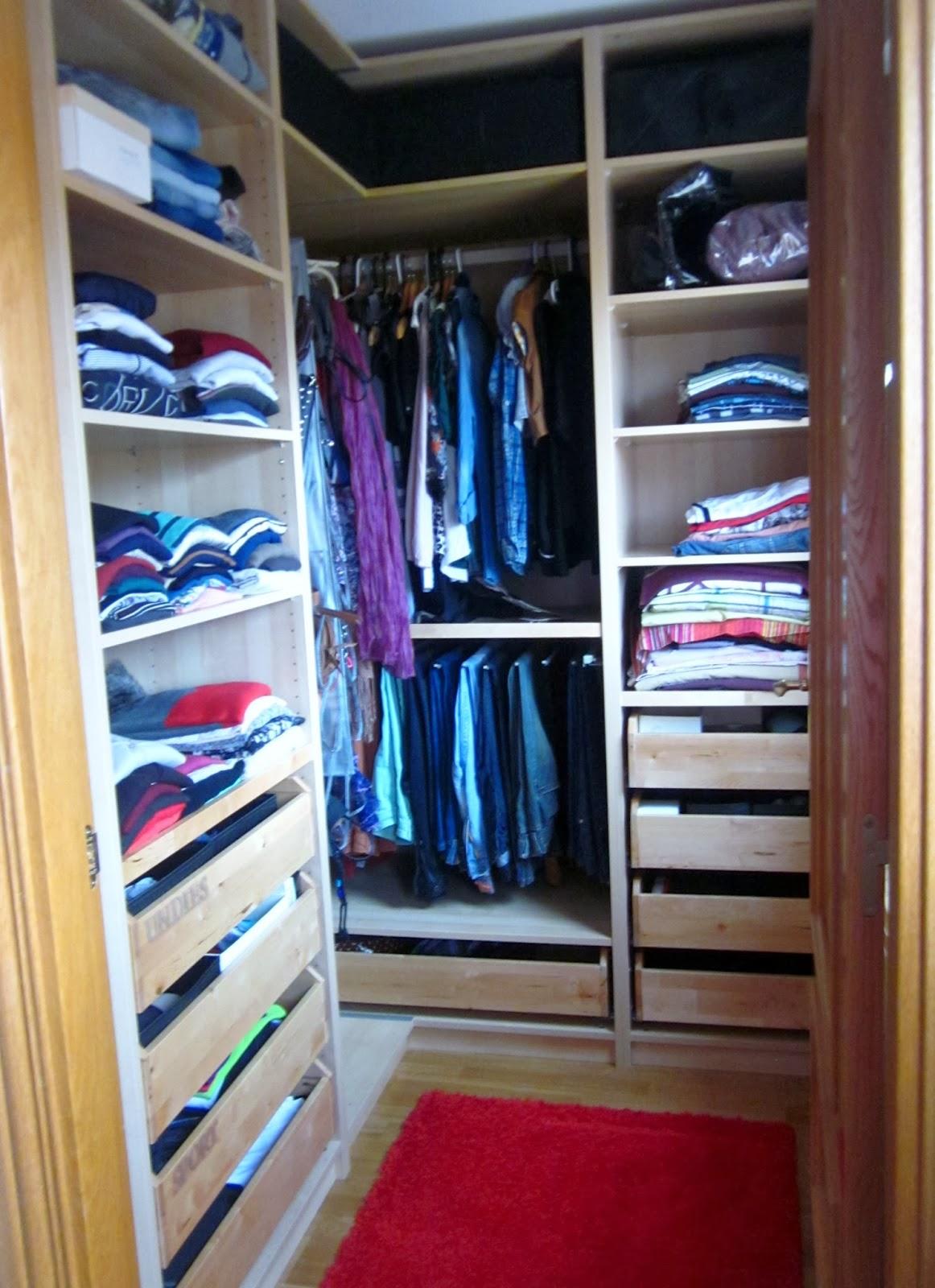 I d e a consejos y trucos para ordenar un armario - Ordenar armarios ropa ...