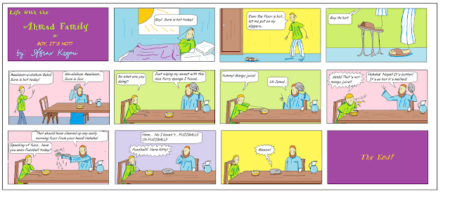 Life with the Ahmad Family comic for Muslim children: Boy, It's Hot!