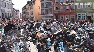 Harley Davidson in Wittlich at the Market Square