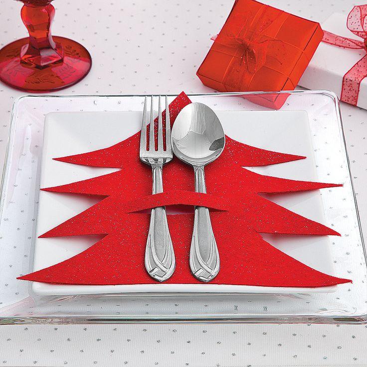 Idéias fáceis prá decorar a mesa de Natal