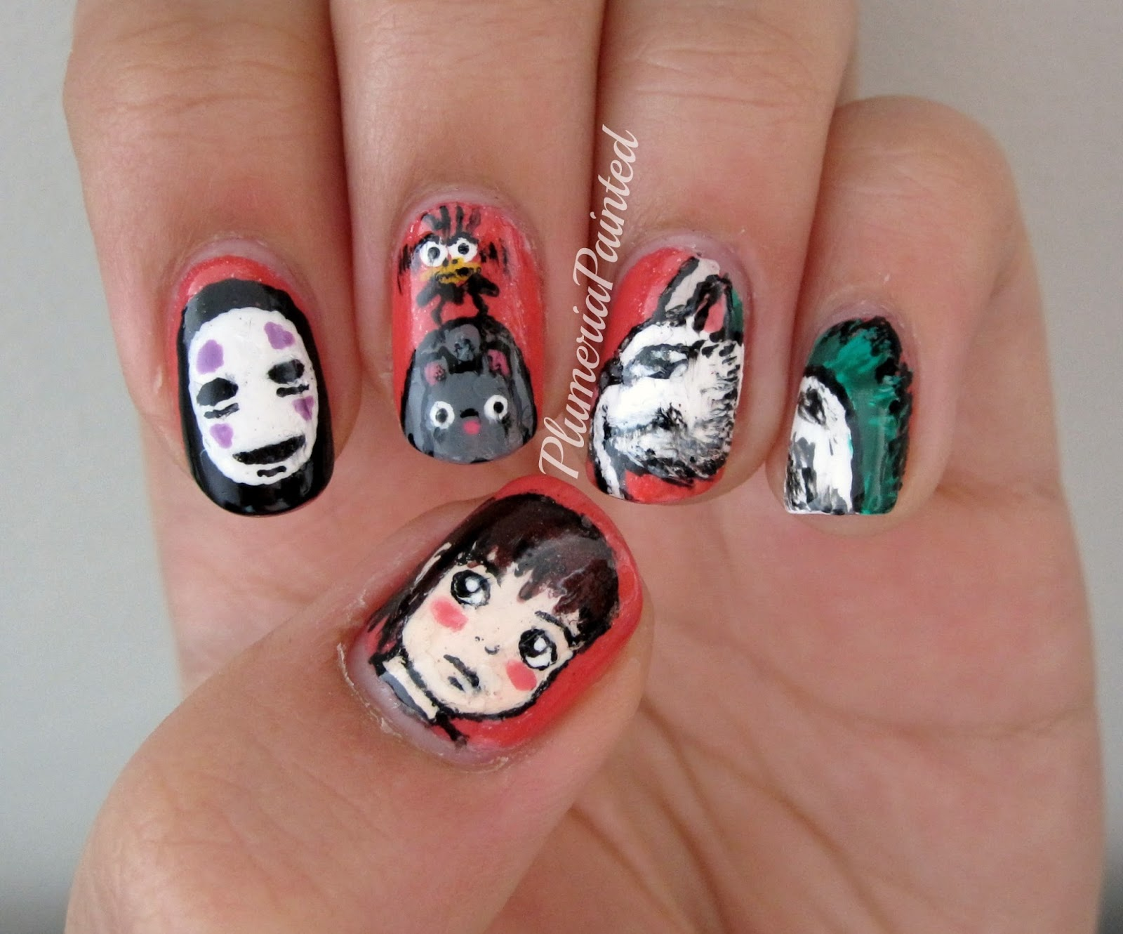 PlumeriaPainted: Spirited Away Nails