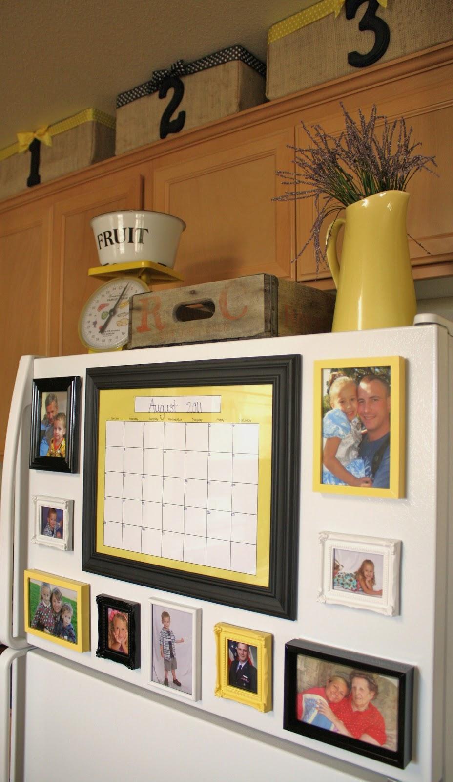 Fridge picture gallery a winner for Kitchen frames ideas