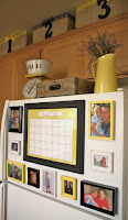 Fridge Calendar and Photos for Home Organization