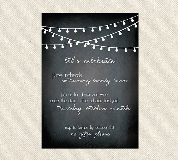 Adult Birthday Invitations: 35 Pretty Examples - Jayce-o-Yesta