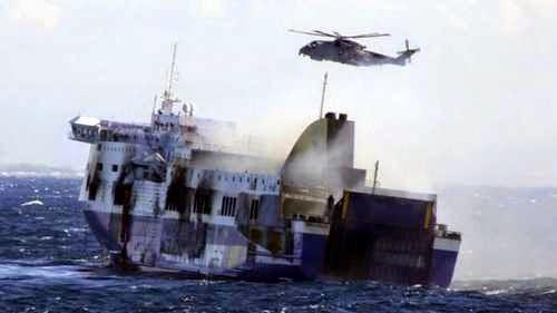 10 dead, 427 rescued from burning Greek Ferry in Adriatic Sea