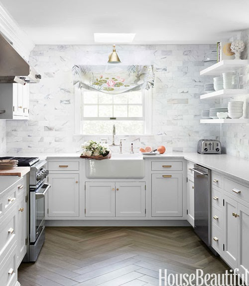 Kitchen Floor Tiles For White Cabinets: Mix And Chic: A Gorgeous White Kitchen