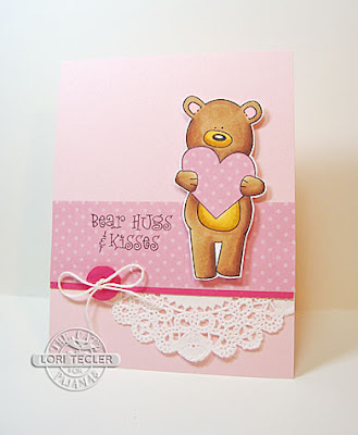 Bear Hugs and Kisses card-designed by Lori Tecler/Inking Aloud-stamps from The Cat's Pajamas