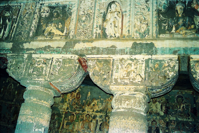 Inside decoration of Ajanta Caves