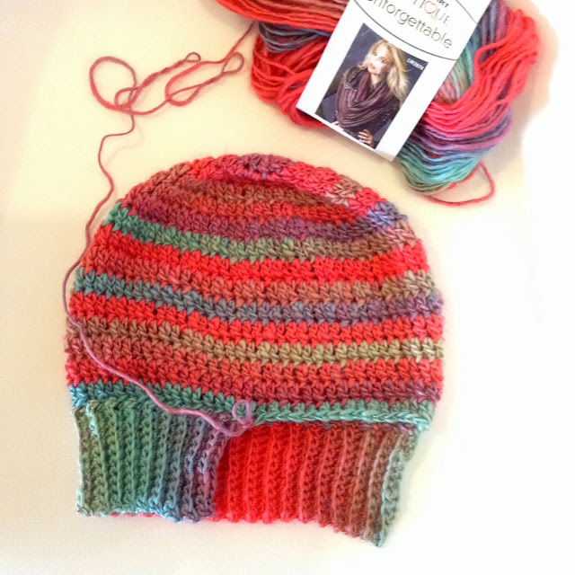 Knitting Patterns Using Red Heart Boutique Unforgettable Yarn : Crochet in Color: Unforgettable Hat