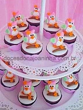 Mini cupcakes Corujinha