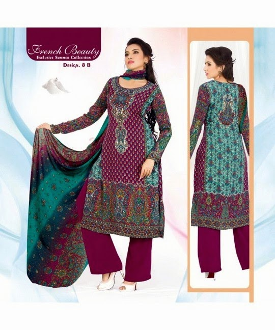 French Beauty Salwar Suits for Girls