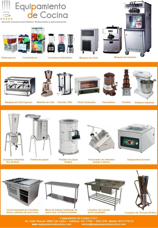 Precios de equipos de cocina for Equipos para cocina