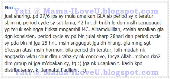 GLA Complex Selesaikan Masalah Period Cycle Lama dan Senggugut