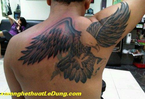 hình xăm đại bàng sau lưng
