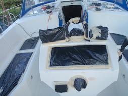 taping for gel coat spraying