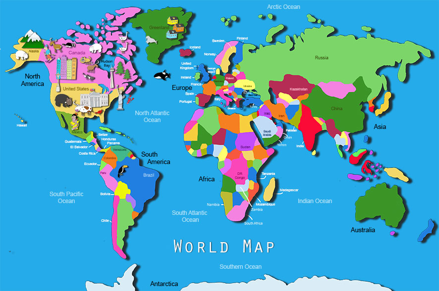 World Atlas For Kids Map