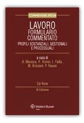 Lavoro. Formulario commentato. Profili sostanziali, gestionali e processuali. Con CD-ROM