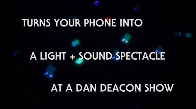 Dan Deacon Baltimore musician App Turns you Phone into Audience Light Source at Concerts
