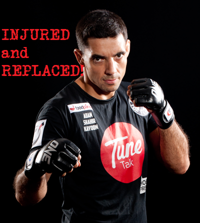 Adam Kayoom injured and out of ONE FC 12 Warrior Spirit