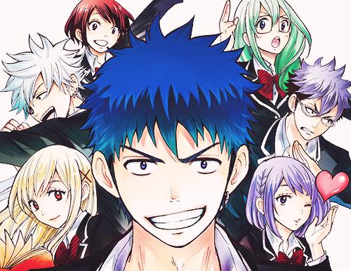 Yankee-kun in una storia assieme a Yamada-kun