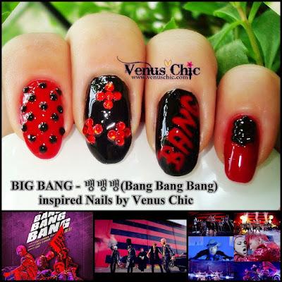 K-pop Inspired Nails: BIG BANG - 뱅뱅뱅(Bang Bang Bang)