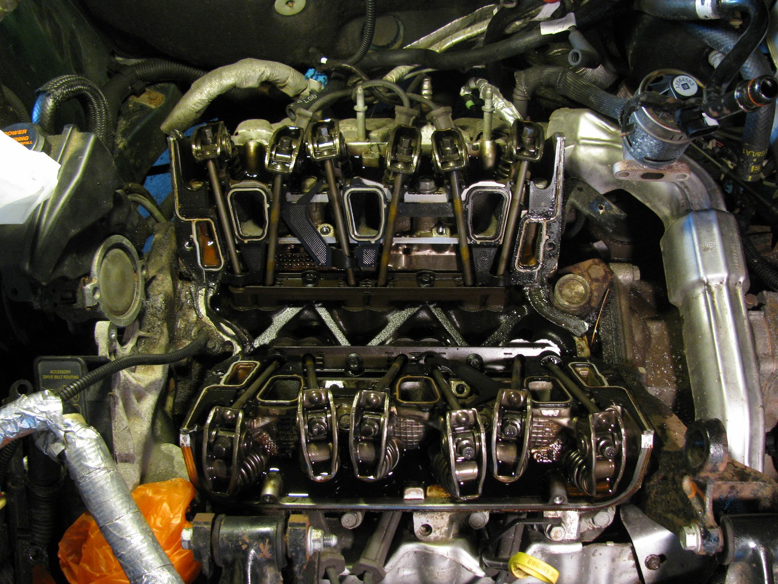 The Original Mechanic 31l Engine Gm Replacing Intake Manifold Ls Cooling Diagram View Of 31 With Lower Removed