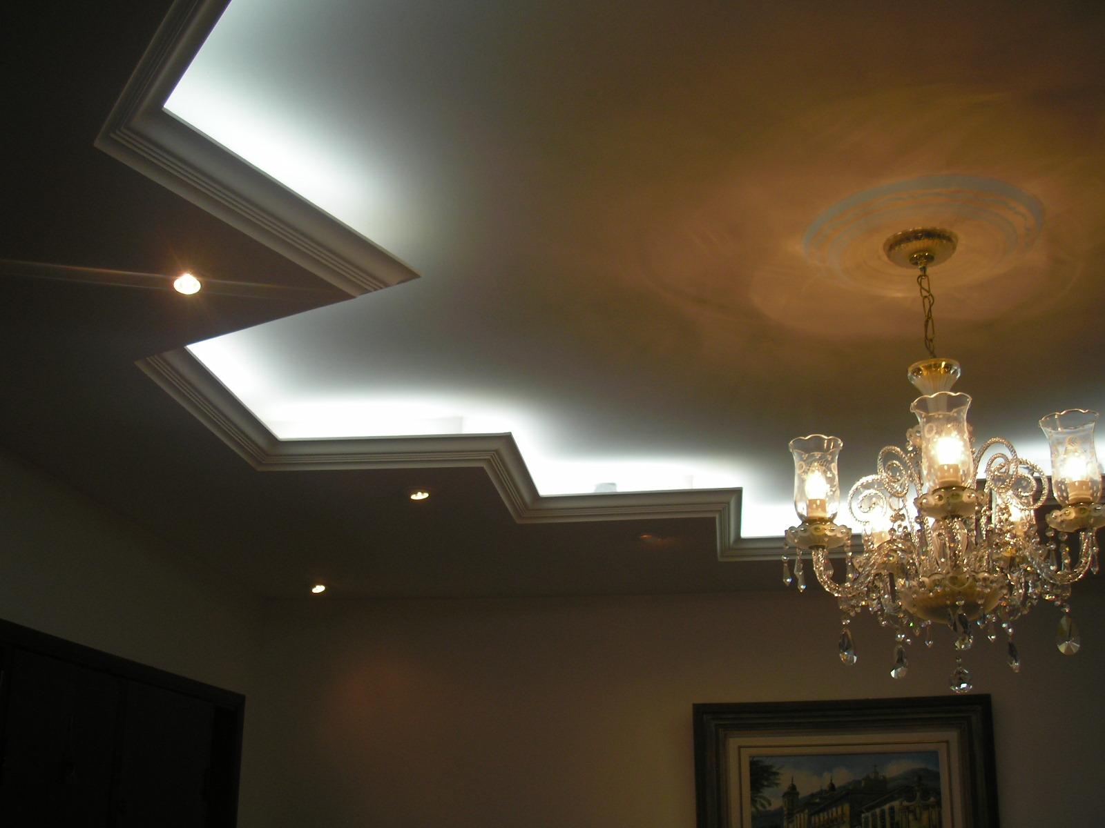 fotos de decoracao de interiores em gesso:Fonte: Alderige Gessos e Texturas